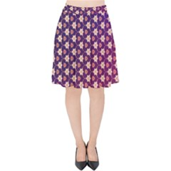 Texture Background Pattern Velvet High Waist Skirt