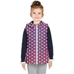Texture Background Pattern Kids  Hooded Puffer Vest