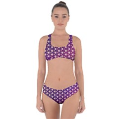 Texture Background Pattern Criss Cross Bikini Set