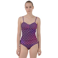 Texture Background Pattern Sweetheart Tankini Set