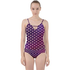 Texture Background Pattern Cut Out Top Tankini Set