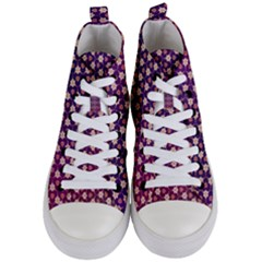 Texture Background Pattern Women s Mid Top Canvas Sneakers