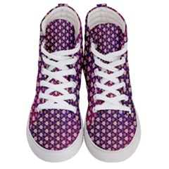 Texture Background Pattern Women s Hi Top Skate Sneakers