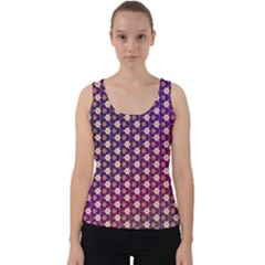 Texture Background Pattern Velvet Tank Top