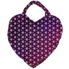 Texture Background Pattern Giant Heart Shaped Tote