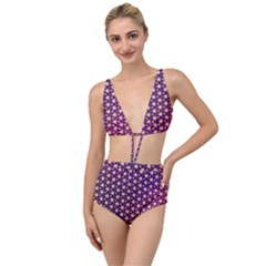 Texture Background Pattern Tied Up Two Piece Swimsuit