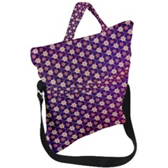 Texture Background Pattern Fold Over Handle Tote Bag