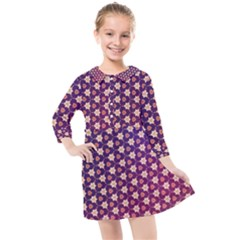 Texture Background Pattern Kids  Quarter Sleeve Shirt Dress