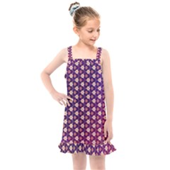 Texture Background Pattern Kids  Overall Dress