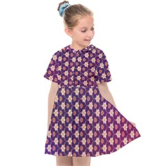 Texture Background Pattern Kids  Sailor Dress