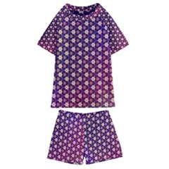 Texture Background Pattern Kids  Swim Tee And Shorts Set