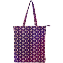 Texture Background Pattern Double Zip Up Tote Bag