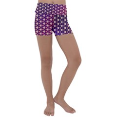 Texture Background Pattern Kids  Lightweight Velour Yoga Shorts