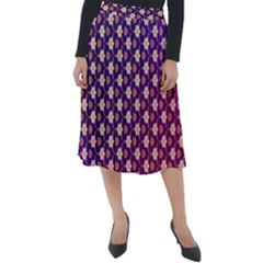 Texture Background Pattern Classic Velour Midi Skirt