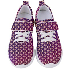 Texture Background Pattern Women s Velcro Strap Shoes