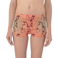 Cute Giraffe Pattern Reversible Boyleg Bikini Bottoms by FantasyWorld7