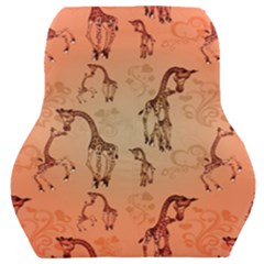 Cute Giraffe Pattern Car Seat Back Cushion  by FantasyWorld7