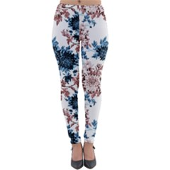 Rose And Blue Drawing Flowers Lightweight Velour Leggings by goljakoff