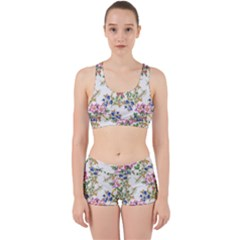 Watercolor Flowers Pattern Work It Out Gym Set by goljakoff