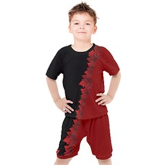 Kid s Canada Maple Leaf Sport Sets Kid s Tee And Shorts Set by CanadaSouvenirs