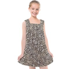 Cyber Punk Pattern Design Kids  Cross Back Dress