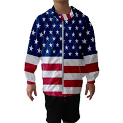 American Flag Hooded Windbreaker (kids) by Valentinaart