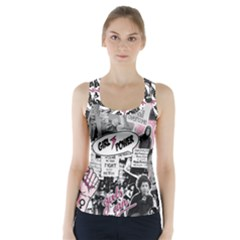 Feminism Collage  Racer Back Sports Top