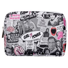 Feminism Collage  Make Up Pouch (medium) by Valentinaart