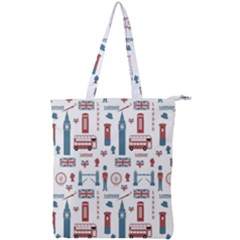 London Love Double Zip Up Tote Bag