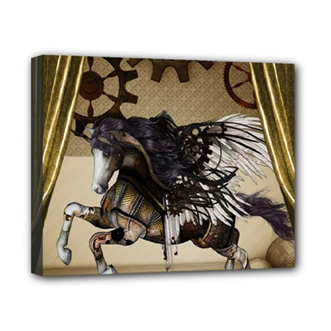 Awesome Steampunk Unicorn With Wings Canvas 10  X 8  (stretched) by FantasyWorld7