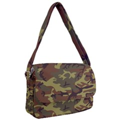 Camo Green Brown Courier Bag by retrotoomoderndesigns