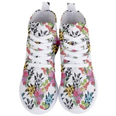Drawing Colorful Flowers Women s Lightweight High Top Sneakers by goljakoff