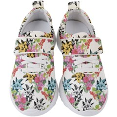 Drawing Colorful Flowers Kids  Velcro Strap Shoes by goljakoff