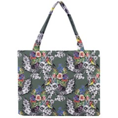Vintage flowers and birds pattern Mini Tote Bag