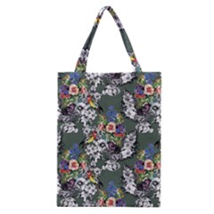 Vintage flowers and birds pattern Classic Tote Bag