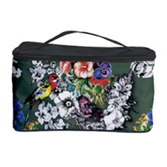 Vintage flowers and birds pattern Cosmetic Storage
