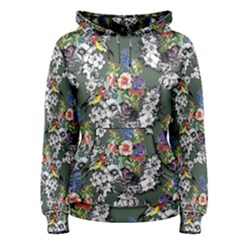 Vintage flowers and birds pattern Women s Pullover Hoodie