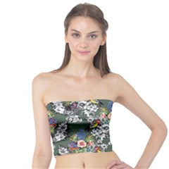 Vintage flowers and birds pattern Tube Top