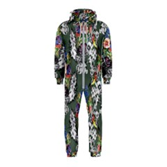 Vintage flowers and birds pattern Hooded Jumpsuit (Kids)