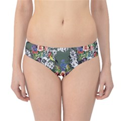 Vintage flowers and birds pattern Hipster Bikini Bottoms