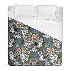 Vintage flowers and birds pattern Duvet Cover (Full/ Double Size)