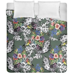 Vintage flowers and birds pattern Duvet Cover Double Side (California King Size)