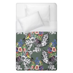 Vintage flowers and birds pattern Duvet Cover (Single Size)
