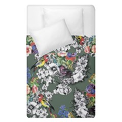 Vintage flowers and birds pattern Duvet Cover Double Side (Single Size)