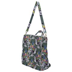 Vintage flowers and birds pattern Crossbody Backpack