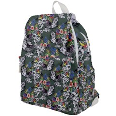 Vintage flowers and birds pattern Top Flap Backpack