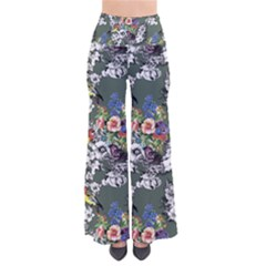 Vintage flowers and birds pattern So Vintage Palazzo Pants