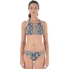 Vintage flowers and birds pattern Perfectly Cut Out Bikini Set