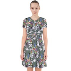Vintage flowers and birds pattern Adorable in Chiffon Dress