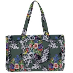 Vintage flowers and birds pattern Canvas Work Bag